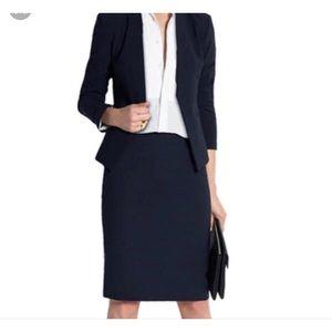 Kasper Navy Blue Blazer & Skirt